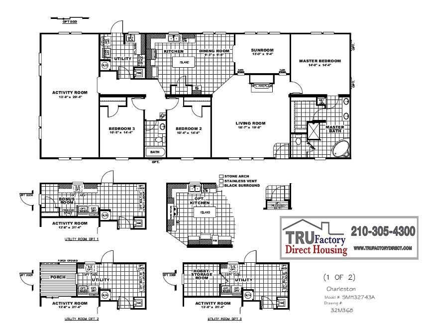 CMH Schult Charleston MOD TRU Factory Direct – Charleston Homes Floor Plans