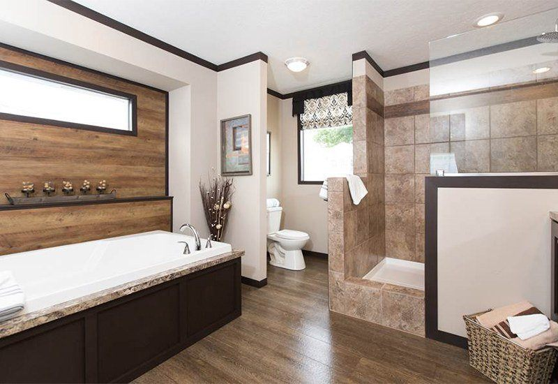 Picture Of CMH Patriot 3/2 Double Wide For $68,499 Mobile Home Master Bathroom