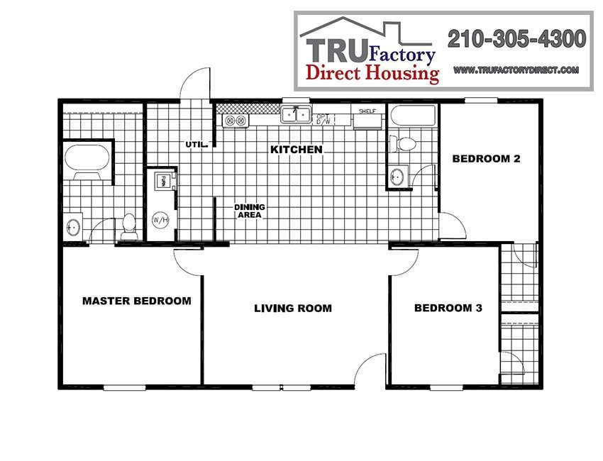 ndedFloorPlan-without-Dimensions-1-TRU Pacman Tru Mobile Home on tru mh white pine tn, tru mh tyson, tru mh ali, tru manufactured home model tyson,