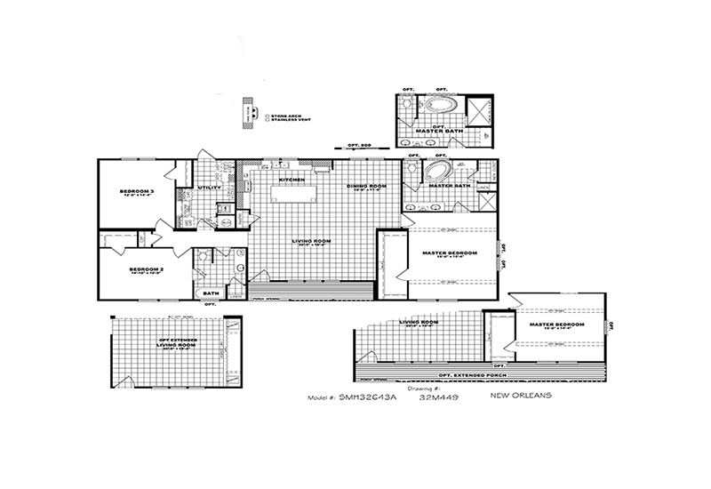 New Orleans Mobile Home Branded Floor Plan