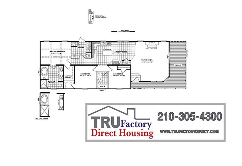 Stewart Mobile Home Branded Floor Plan