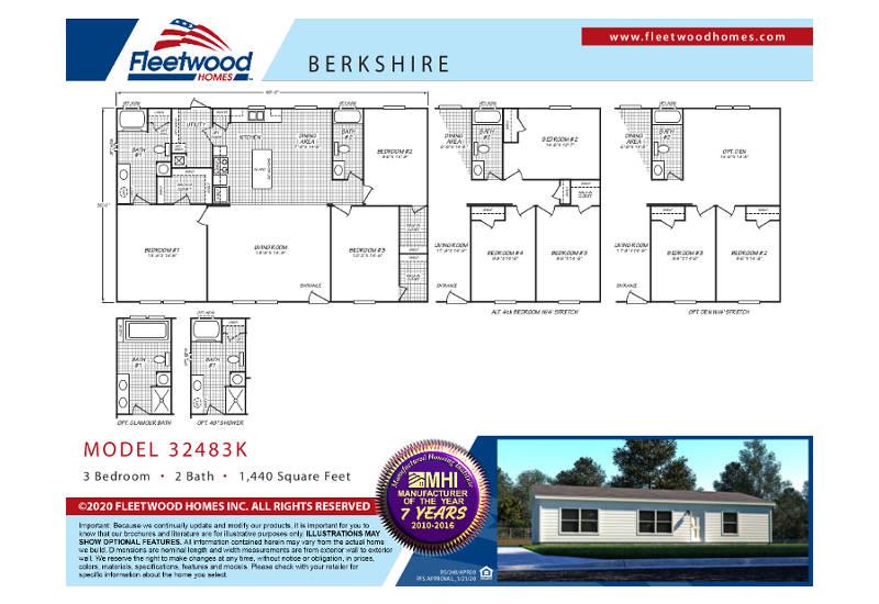 Fleetwood Berkshire 48K - BS32483K - FP
