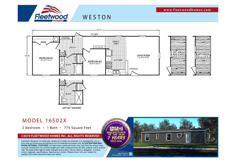 Fleetwood Weston 50 - WE16502X - FP